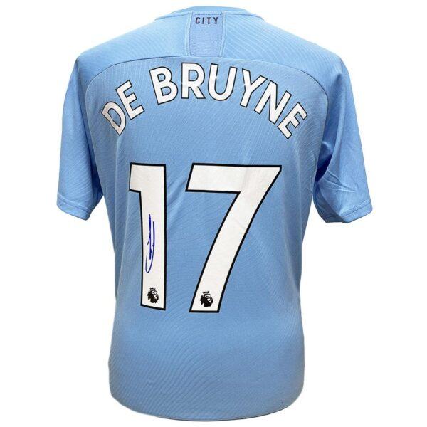 Manchester City FC De Bruyne Signed Shirt