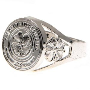 Celtic FC Silver Plated Crest Ring Small