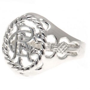Rangers FC Silver Plated Crest Ring Large