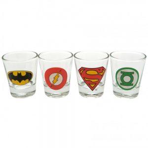 DC Comics 4pk Shot Glass Set