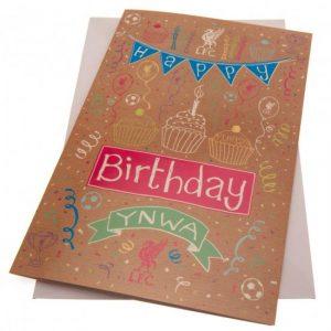Liverpool FC Birthday Card Girl