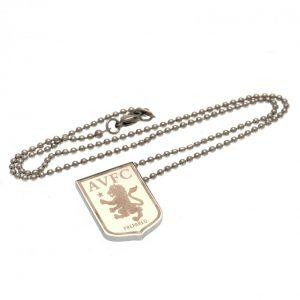 Aston Villa FC Stainless Steel Pendant & Chain LG