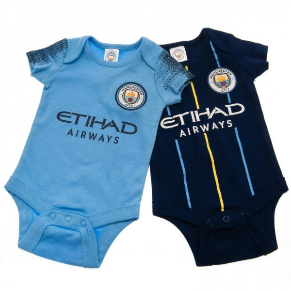 Manchester City FC 2 Pack Bodysuit 0/3 mths NV