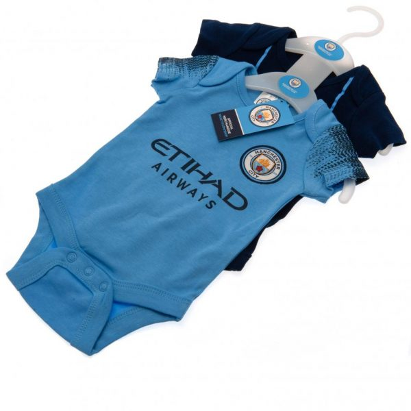 Manchester City FC 2 Pack Bodysuit 9/12 mths NV