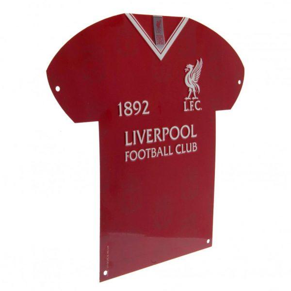 Liverpool FC Metal Shirt Sign LB