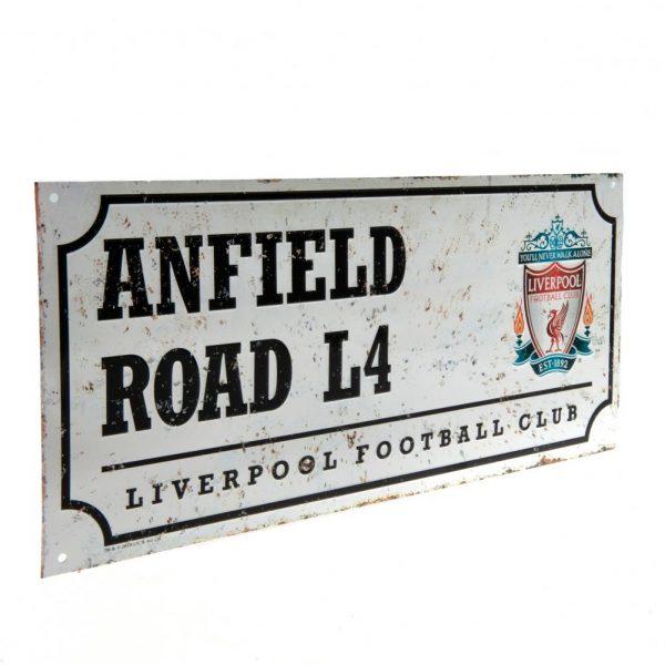 Liverpool FC Street Sign Retro
