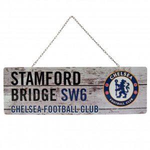 Chelsea FC Rustic Garden Sign