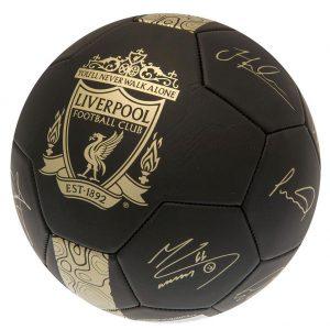 Liverpool FC Gold Phantom Signature Football