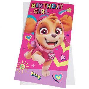 Paw Patrol Birthday Card Girl