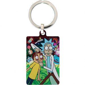 Rick And Morty Metal Keyring