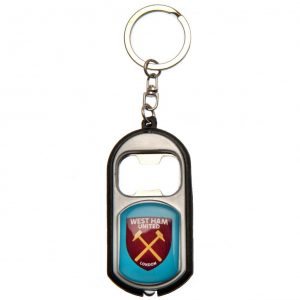 West Ham United FC Key Ring Torch Bottle Opener