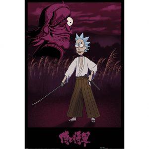 Rick And Morty Poster Samurai Rick 275