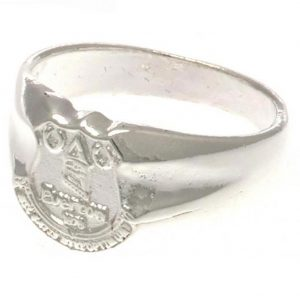 Everton FC Silver Plated Crest Ring Small