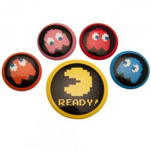 Pac-Man Button Badge Set