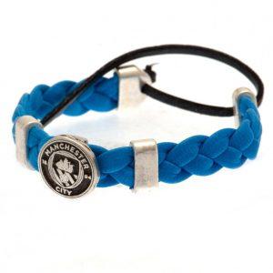 Manchester City FC PU Slider Bracelet