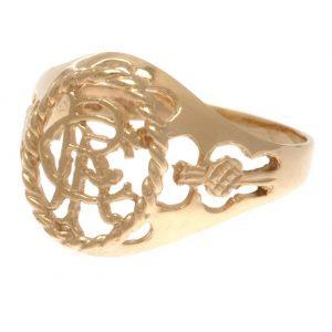 Rangers FC 9ct Gold Crest Ring Medium