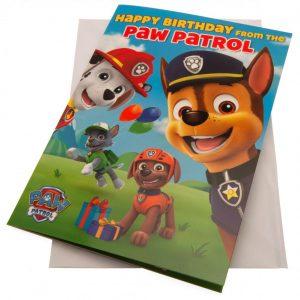 Paw Patrol Birthday Sound Card