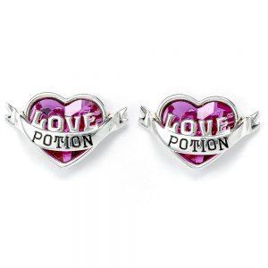 Harry Potter Sterling Silver Crystal Earrings Love Potion
