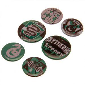 Harry Potter Button Badge Set Slytherin