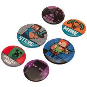 Minecraft Button Badge Set
