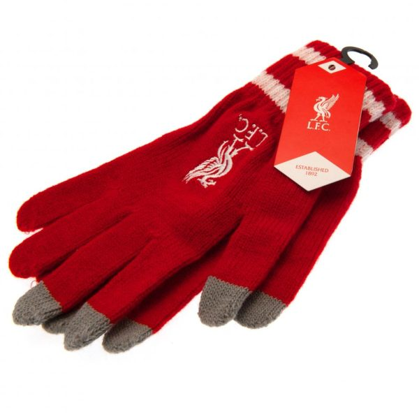 Liverpool FC Touchscreen Knitted Gloves Adult RD