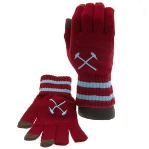 West Ham United FC Touchscreen Knitted Gloves Adult